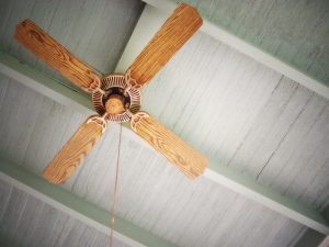 wooden ceiling fan